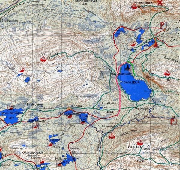 kart over lifjell Himingen Hyttevel   Kart kart over lifjell